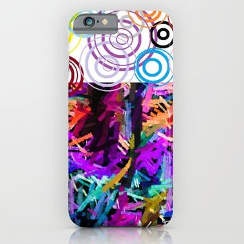 Rainbow drops iPhone & iPod Case by violajohnsonriley
