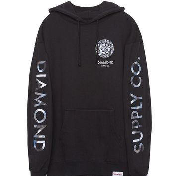 Diamond Supply Co Clarity Fleece Hoodie - Mens Hoodie - Black