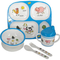 Farm Animals Melamine Baby Dinnerware 4pcs