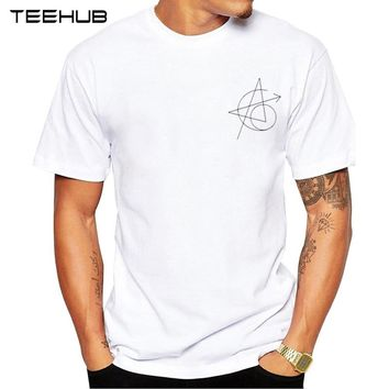 TEEHUB Newest Avengers Tattoo Men T-Shirt Short Sleeve Funny Pocket Letter A Printed Tops Classic Tee Cool Design T Shirts