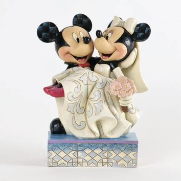 Disney Traditions Mickey and Minnie Wedding Jim Shore New with Box
