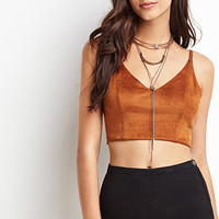 Faux Suede Cropped Cami