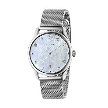 Gucci G-Timeless Mother of Pearl Dial Swiss Quartz Mesh Bracelet Ladies' Watch