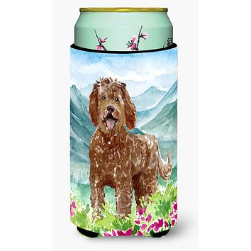 Mountain Flowers Labradoodle Tall Boy Beverage Insulator Hugger CK2532TBC