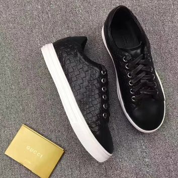 GUCCI Women Trending Fashion Leather Casual Sneakers Sports Shoes