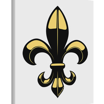 Golden Fleur de Lis Printed Canvas Art Portrait - Choose Size