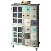 Distressed Color Cabinet