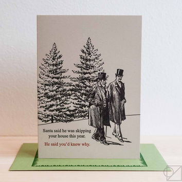 Santa Snub Greeting Card
