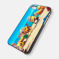 Despicable Me Minions on Beach iPhone Case And Samsung Galaxy Case