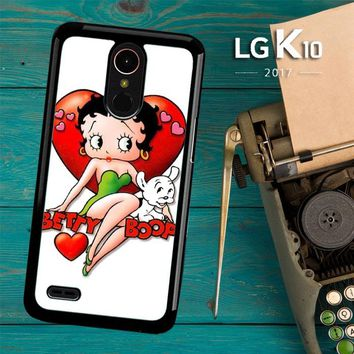 Betty Boop And Pudgy Y0058 LG K10 2017 / LG K20 Plus / LG Harmony Case