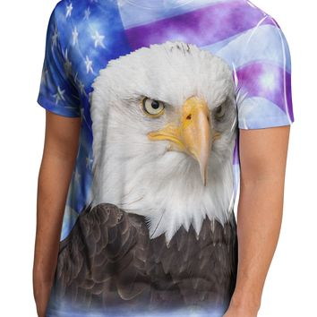 All American Eagle All Over Men's Sub Tee Dual Sided All Over Print T-Shirt by TooLoud