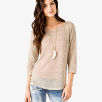 Heathered Open Knit Sweater