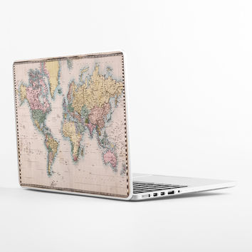 Vintage Map Laptop Skin