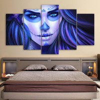 Day of the Dead(5) 5pc Canvas