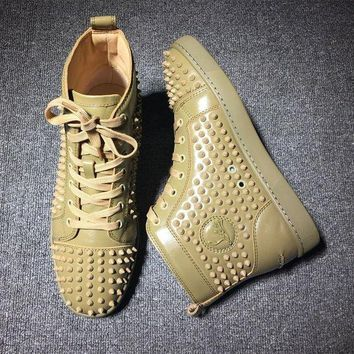 DCCK Cl Christian Louboutin Louis Spikes Style #1899 Sneakers Fashion Shoes