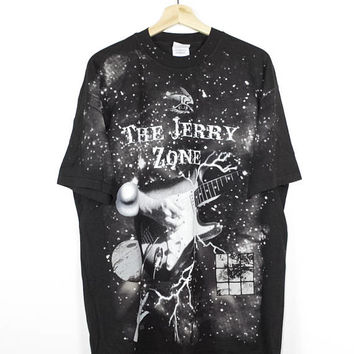 1994 THE JERRY ZONE all over print shirt - vintage 90s - jerry garcia - grateful dead - twilight zone - deadstock