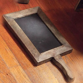 Vintage Chalkboard with Wood Frame and Handle - 18-in x 8-1/2-in