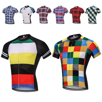 Sedrick 2019 New Grid Stripe Camouflage Cycling Jersey Bicycle Road Bike Cycle MTB Shirts Sports Clothing Maillot Ropa Ciclismo