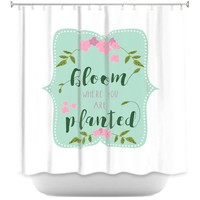 Shower Curtains By Zara Martina Bloom Where U are Planted l