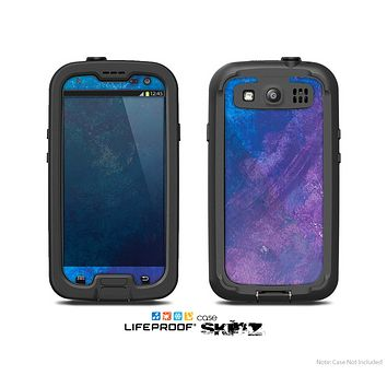 The Blue & Purple Pastel Skin For The Samsung Galaxy S3 LifeProof Case