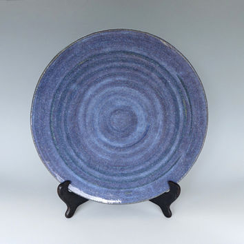 Ceramic platter, large platter, serving platter, blue platter, lavender platter, handmade, high fired
