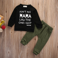 New 2016 fashion baby boy clothes baby clothing set cotton long-sleeved printed t-shirt+pants newborn baby girl clothing