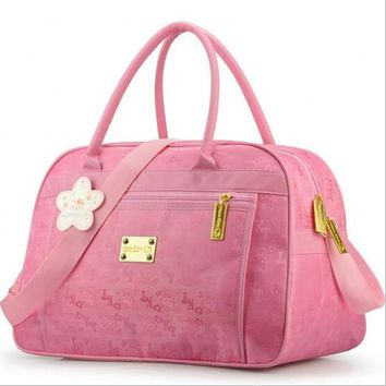 Fashion Hello Kitty cute pink travel shoulder big bag women cartoon designer large casual tote clutch handbag borsa donna49