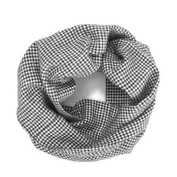 Toddler Scarf Houndstooth Scarf Kid's Scarf Black and White Scarf Child's Scarf Girl Scarf Boy Scarf Baby Bib Scarf Gift Idea Ready To Ship