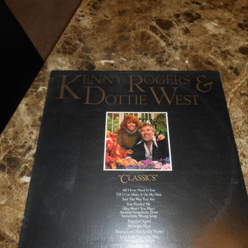 Vinyl Record - Kenny Rogers and Dottie West - Vintage Record 1979