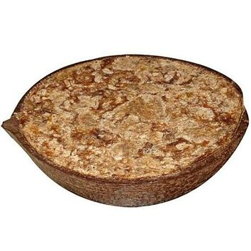 African Black Soap in a Coconut Shell