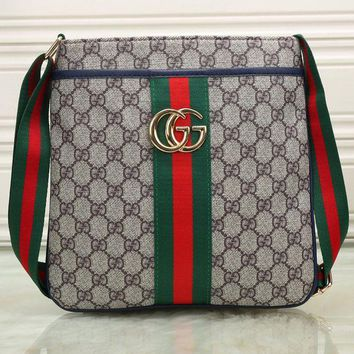 DCCKB62 Gucci Men Fashhion Shopping Leather Tote Crossbody Satchel Shoulder Bag G-KSPJ-BBDL