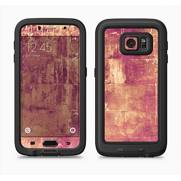 The Pink Paint Splattered Brick Wall Full Body Samsung Galaxy S6 LifeProof Fre Case Skin Kit