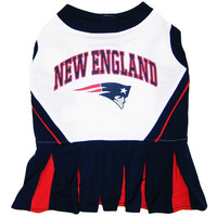 New England Patriots NFL Dog Cheer Leading Costume Small