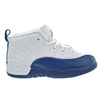 Jordan 12 Retro BT Toddler Shoes White/French Blue/Metallic Silver 850000-113