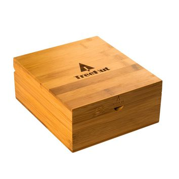 Watch and Band Bamboo Gift Box