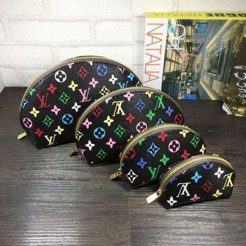 VON3TL LV Louis Vuitton Cosmetic Bags For Accessories Travel Storage Cosmetic Bag Four Piece Suit