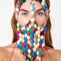 Mystic Charmer Sequin Face Chain