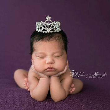 Newborn crown newborn photo prop baby crown newborn tiara rhinestone crown