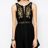 Free People Lace Me Up Dress