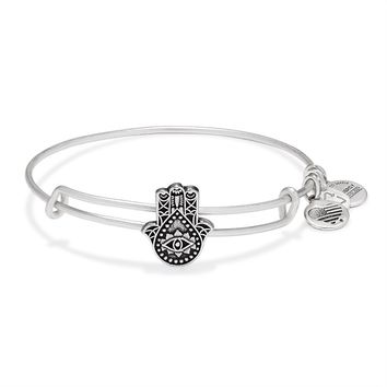 Hand Of Fatima Slider Charm Bangle