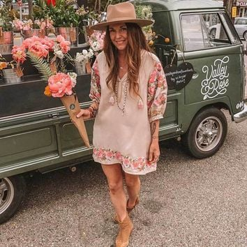 Boho Dress Ukraine Chic Dress