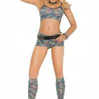Kissable Camo Cami Set