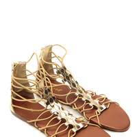Bamboo Relaxed Gladiator Golden Sandals