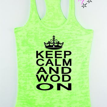 Keep Calm and WOD on Cross Training Tank Top , Women's lifting tank, Funny gym shirt