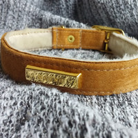 The HOUND Collar in Suede & Shearling