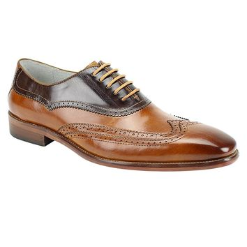 "Giovanni ""Cyprus"" Two-tone Dress Wingtip Oxford"