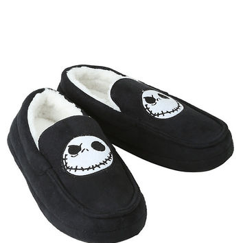 The Nightmare Before Christmas Jack Guys Moccasin Slippers