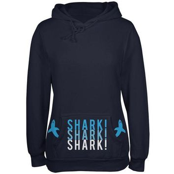 CREYCY8 Shark Stacked Pocket Pet Attack Juniors Soft Hoodie