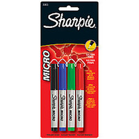 Sharpie Micro Ultra Fine Point Permanent Markers Assorted Pack Of 4 by Office Depot & OfficeMax