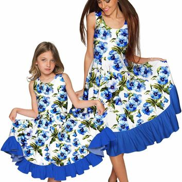 Catch Me Vizcaya Fit & Flare Midi Mother and Daughter Dress